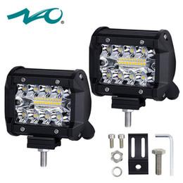 2019 24v führte bootsleuchten NAO 4 Zoll LED Arbeit Licht 60W Bar Birne 12V 24V Spot Flutlichter für LKWs führte Nebelscheinwerfer Bar für Offroad Town Car ATV Boot SUV rabatt 24v führte bootsleuchten