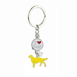 Wholesale Golden Keychain - Creative Metal Dog Golden Retriever Dachshund Charm Keychain Keyring Key Ring Holder For Dog Pet Animal Lover Jewelry