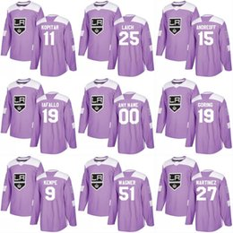 2018 Fights Cancer Jersey 13 Kyle Clifford 36 Jussi Jokinen 70 Tanner  Pearson 23 Dustin Brown Los Angeles Kings Custom Hockey Jerseys b3a3ecbf6