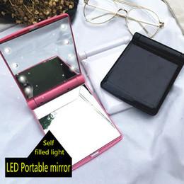 2019 ups de escritorio Desktop Portable 8 LED Light Mirror Luces compactas Light Travel Make Up Mirror rebajas ups de escritorio
