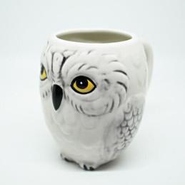 Wholesale Ceramic Owls Wholesale - Creative Harry Potter Hedwig Owl Mug Hedwig Owl Ceramic Mug Kids Gifts Hedwig Owl Porcelain Mug CCA8829 48pcs