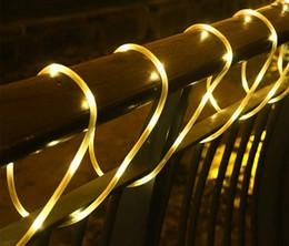 reti di albero Sconti 7M 50Leds Esterno Impermeabile Giardino Solare String Fata Luce Solare Natale Ghirlande Rame Tubo String Luce per recinzione Albero paesaggio
