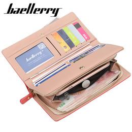 Сумочки бренды цена онлайн-Baellerry Nubuck кожаный кошелек женщин люксовый бренд портмоне женская сумка клатч Сумки доллар цена длинные кошельки Carteira