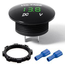 Wholesale 12v Car Voltmeter - DHL 50PCS 12v 24v LED Digital Voltage Volt Meter Display Panel Voltmeter Gauge Car Motorcycle