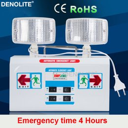 Wholesale Fire Safety - DENOLITE 6W Led Fire Emergency Light Duration Time 4Hours Safety Evacuation Lighting For Shopping Mall,Industry,Apartment