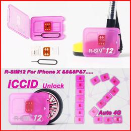 R-SIM12 para tarjeta de desbloqueo de iphone X R SIM RSIM12 Desbloqueo automático de ICCID de RSIM 12 para iPhone 8 8p 7 7p 6 6P iOS11 ios7-11.x 3G 4G desde fabricantes