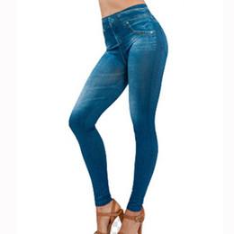 341db1b97d8 plus size denim jeggings Coupons - Wholesale- 2017 Women Jeans Leggings  Denim Pants with Pocket