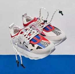 Argentina Zapatillas de deporte de la reacción en cadena de los hombres zapatillas de deporte de las mujeres de la cadena de peso ligero suela de goma vinculada zapatos de marca de moda de lujo calzado de moda deportiva cheap rubber shoes Suministro