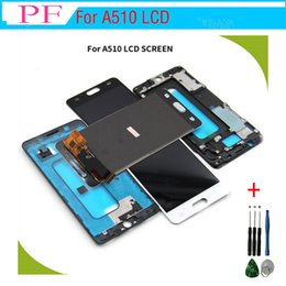 samsung lcd screen repair Promo Codes - For Samsung Galaxy A5 2016 LCD Display A510 A510F A510M SM-A510F Touch Screen Digitizer For samsung galaxy A5 2016 lcd Frame + Repair Tool