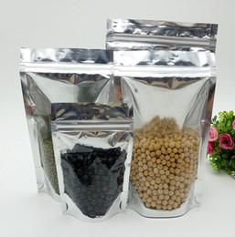 aufstehen beutel Rabatt Transparente Folie Stand Up Pouch Zipper Lock wiederverschließbare Plastiktüten Food Storage Ziplock Taschen Küche Zubehör Verpackung Beutel