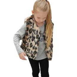 Argentina Niños Niñas Chalecos Bebé Niña Otoño Invierno Faux Fur Chaleco Moda Leopard Abrigo Ropa Outwear Ropa de Bebé niña Suministro
