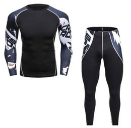 Wholesale Sports Leggings For Men - Compression Running Set for Men Sports Fitness Training Bodybuilding Long Sleeve T-Shirts & Leggings Pants Quick Dry Camouflage