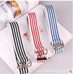 Canada Nouvelle ceinture de toile coréenne femme double boucle simple denim sauvage ceinture décorative tendance tendance ceinture Offre