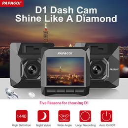 Wholesale D1 Dvr - PAPAGO D1 Car DVR Dash Camera PPG 8030 Dual Core 1440P 2 inch 145 Degree Angle Car DVR Camera Dash Cam Video Recorder Camcorder