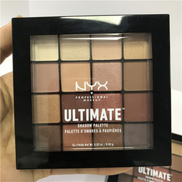 Wholesale Ultimate Size - NYX ULTIMATE 16colors Eyeshadow Palette Ombre Eyeshadow Palettes Shimmer Matte Makeup Cosmetics palette Free shipping by epacket