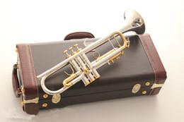 Argentina Instrumento de trompeta de Bach LT180S-72 plateado doble color abajo Trompeta de tono B cuerno integrado Suministro