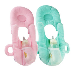 Wholesale Infant Head Protection - Multifunctional Infant Nursing Pillow Baby Head Protection Cushion Pillows with Bottle Holder Baby Care Product for Baby Feeding