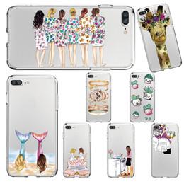 Karikatur-Giraffen-Schönheits-Muster-weicher Silikon-Kasten für Iphone X 7 8 Samsung S8 J327 J727 STYLO 3 Fall fertigen alle Modelle besonders an von Fabrikanten