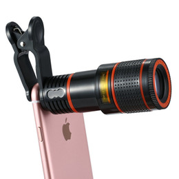 Wholesale Zoom Lens - 8x Zoom Optical Phone Telescope Portable Mobile Phone Telephoto Camera Lens and Clip for iPhone Samsung HTC Huawei LG Sony Etc