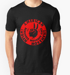 Canada AMÉRIQUE INDIENNE MOUVEMENT T SHIRT TOP NATIVE AMERICANS AMÉRIQUE TRIBU TRIBAL Mode 2018 Marque T Shirt O-Neck T-shirt 100% coton Offre