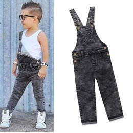 de16e75c76b0 Boys Bib Jeans Child Jumpsuit Jean Overalls Cute Letter Denim Infant Boy  Children s Clothing Pants Bodysuit 1 2 3 4 5 Years Y18103008 discount cute  denim ...