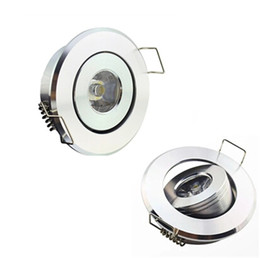 Wholesale led bathroom light bulbs - 1W led ceiling light downlight lighting lamp bulb AC85~265V Warm white white warranty spot light sunway518