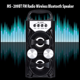 Wholesale high output speakers - Redmaine MS-209BT Portable Wireless Bluetooth Speaker FM Radio High Power Output AUX TF USB Music Speakers Loudspeaker