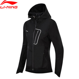 Wholesale Running Jacket Women Waterproof -  Running Series Windbreaker Regular Fit Polyester Comfort Jackets AT PROOF SMART LiNing Sports Coat AFDN014 WWF900