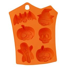 Хэллоуин праздник тыква торт плесень 6 полостей тыква призрак Летучая мышь форма шоколад формы DIY торт украшения инструменты от