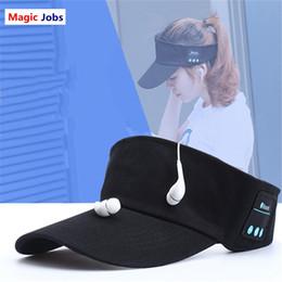 Magic_Jobs беспроводная крышка Солнца Bluetooth наушники Бейсбол шляпа Солнца музыка гарнитура громкой связи с микрофоном для большинства телефонов Спорт взрослых размер от Поставщики размеры колпачков
