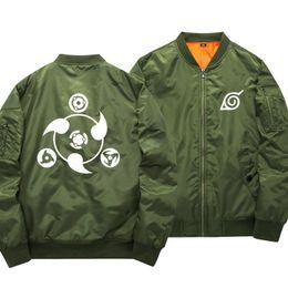 2019 chaqueta naruto uzumaki Anime Naruto Chaquetas de béisbol Naruto Uzumaki cosplay Traje Harajuku de dibujos animados Zipper Bomber Jacket Otoño Pilot coat 061003 rebajas chaqueta naruto uzumaki
