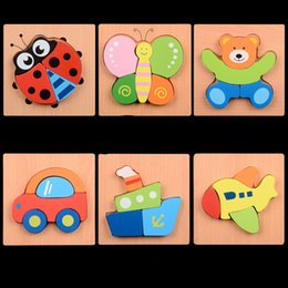Wholesale Traffic Toys - Building Blocks Toys Hand Puzzle Children Shape Cognition Block Early Childhood Multicolor Animal Traffic Wooden Kids Toy 5xq W