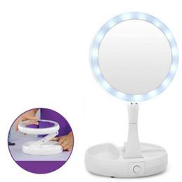 2018 My Fold Away Make Up LED Mirror 360 Degrés Écran Tactile Make Up Cosmetic Pliable Portable Compact Mirror ? partir de fabricateur