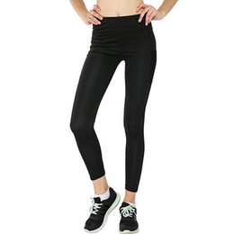 billige schlankheits-leggings Rabatt Schwarz Günstige Sexy Push Up Schwarz Leggings Frauen Mode Hohe Taille Workout Polyester Yoga Fitness Leggings Active tragen Dünne Legging FS5763