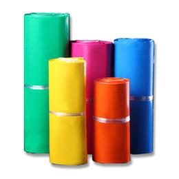 Sobres de colores online-100 unids / lote Bolsa de Mensajero de color amarillo Rosa Poli Mailer 10 * 13 pulgadas Express Bag 25 * 35 cm Correo Bolsas Sobre Sello de Autoadhesivo bolsas de Plástico