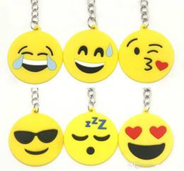 Venda quente QQ Emoji Chaveiro Pequeno Chaveiro Emoção Amarelo QQ Expressão Stuffed PVC Boneca de Brinquedo 6 Projeto Emoji Pvc Chaveiro Navio Livre de