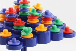Juguetes de rompecabezas de copos de nieve online-Juguetes para niños Bloques de construcción coloridos Juguete Copos de nieve Conectar Bloques de plástico entrelazados Juegos de rompecabezas Educativos DIY PlasticToys