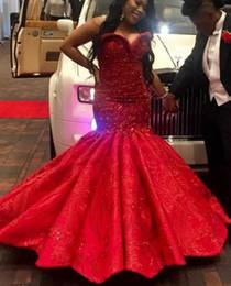 Robe de soirée longue robe trompette rouge chérie sans manches en satin de dentelle robes de bal perlées robes de soirée cocktail robes de soirée ? partir de fabricateur