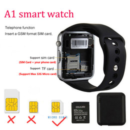 stock smart watch Coupons - A1 Smart Watch Wearable Android Bluetooth Smartwatch Support Android and IOS SIM and TF card slot In Stock Fast Shipping VS DZ09 GT08