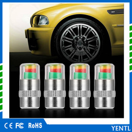 valve cap pressure Promo Codes - Free shipping 4PCS Car Auto Tire Pressure Monitor Valve Stem Caps Sensor Indicator Alert 4pcs lot 2.2 2.4 Bar 32PSI Gauge Valve Caps Sensor