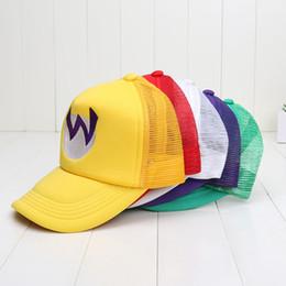 Wholesale Super Mario Bros Caps - Super Mario Bros Hat Mario Costume Cosplay Hat Cap Luigi 5 colors plush toys free shipping