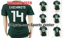 Wholesale womens ripped shirts - WOMENS Mexico Soccer Jersey 10 G.DOS SANTOS 14 CHICHARITO HERNANDEZ LAYUN 18 A.GUARDADO 19 O.PERALTA 22 P.AGUILAR Mexican Football Shirt