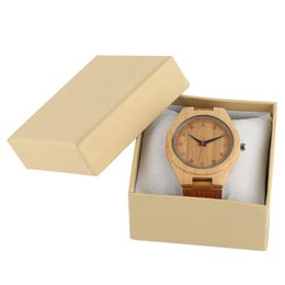 Wholesale gift box packaging logo - Paper Box Cream Yellow Display Package Case Pillow Foam Pad Watch Gifts Boxes Organizer For Clock Hour Jewelry Customized Logo