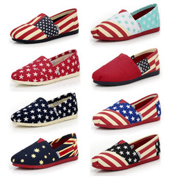 female lazy shoes Promo Codes - Hot sale spring and autumn 12 styles canvas shoe comfortable casual shoes Flat bottom Female Lazy Shoes T3I0312