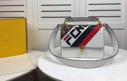 sacs à motifs Promotion DHL Livraison Gratuite, 3A F8834 25cm Kan I Sac à bandoulière en cuir multicolore, motif F en relief, cuir de veau, livré avec sac à poussière + boîte