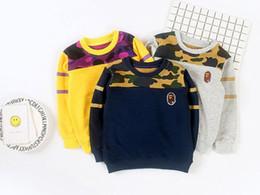 Wholesale Cute Shark - New Children Hoodies Boys Sweatshirts Toddler Boy shark Cute Sweater Fashion Tops aapea Kids Clothes