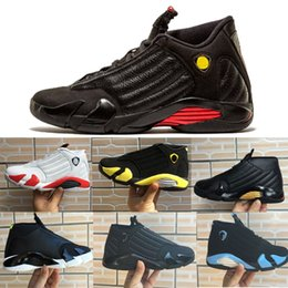 Wholesale cheap red candy - Cheap 14 Men Basketball Shoes Indiglo Last Shot Candy Cane Thunder Laney All White Black Toe Oxidized Green Bred 14s Authentic Sport Sneaker