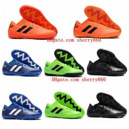 2018 botines de fútbol para hombre Nemeziz Messi Tango 18.3 TF ic zapatos de fútbol para interiores Tango 18 botas de fútbol scarpe calcio chuteiras negro barato desde fabricantes