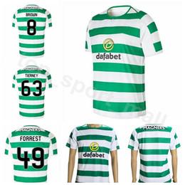 2019 uniformes de futbol marrones 18 19 Temporada FC Thai Soccer 49 FORREST Jersey Hombres Casa Verde 8 MARRÓN 22 EDOUARD 23 LUSTIG Kits de camisetas de fútbol Club Uniforme uniformes de futbol marrones baratos