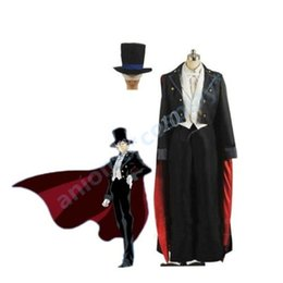 Wholesale Canvas Full Moon - Sailor Moon Tuxedo Mask Chiba Mamoru Customized Cosplay Costume A016